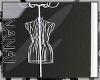 White Metal Dress Hanger