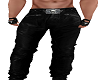 Leather Cris Cross Pants
