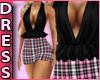 Pink Tartan Short Dress
