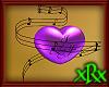 3D Music Heart Purp Love
