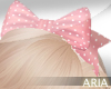 -A- Pink Spotted Add Bow