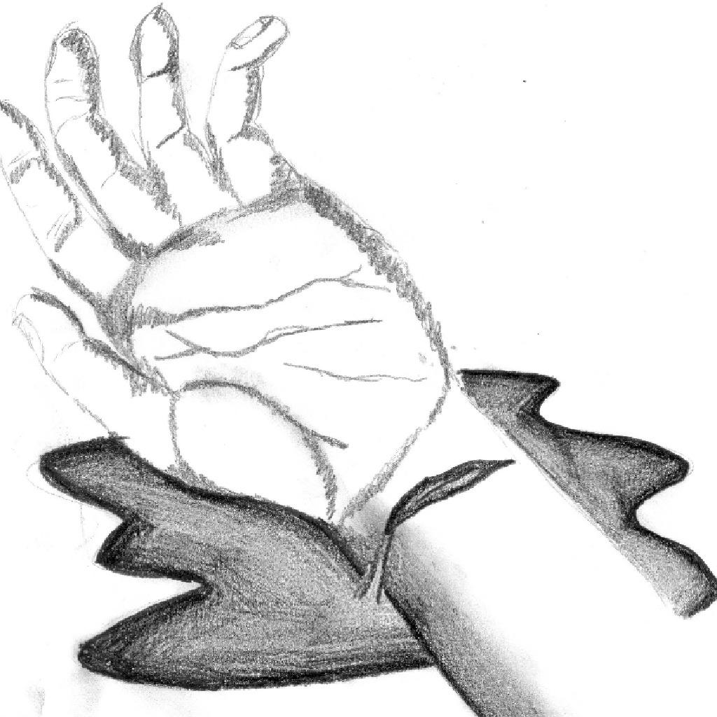 bleeding wrist drawing - HD1024×958